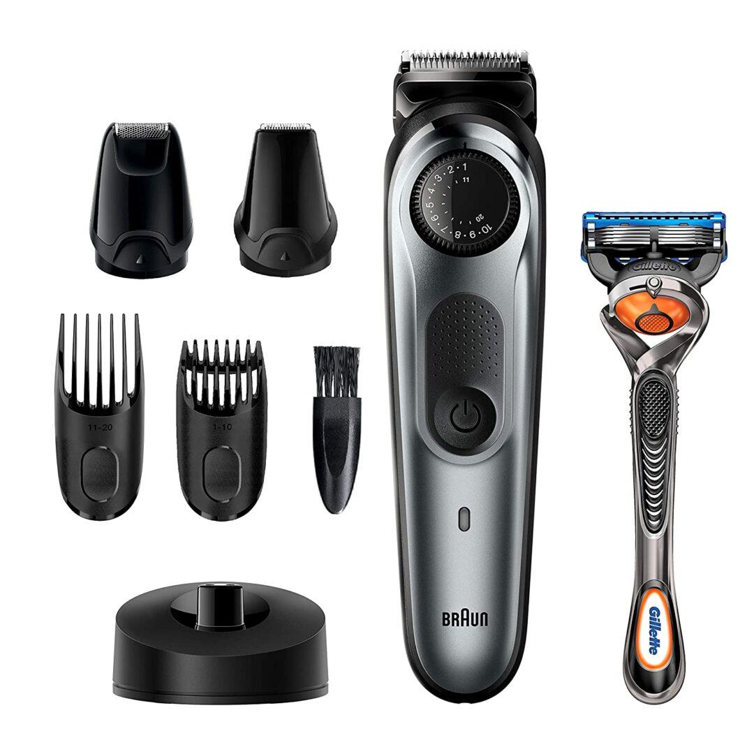 Braun Beard Trimmer for Men BT7240, Cordless & Rechargeable Hair Clipper, Detail Trimmer
