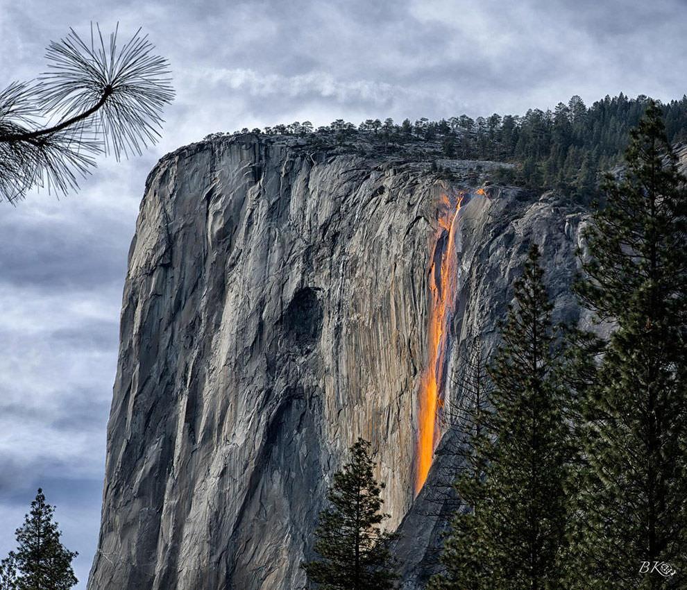 21. Horsetail Fall, Yosemite National Park, USA