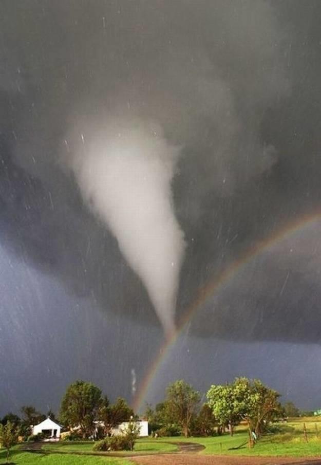 26. A Tornado Mixed With A Rainbow Over Kansas