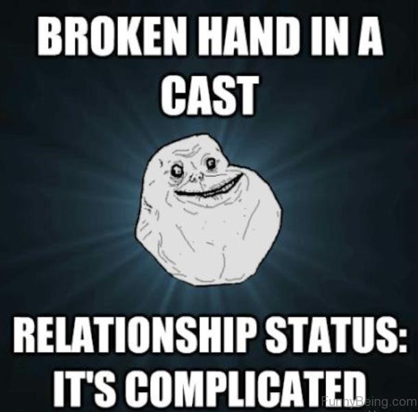 Broken Hand In A Cast