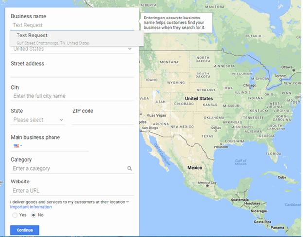 Google My Business Profile Creation Form