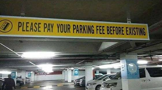 I Hung That Sign In The Parking Garage, Boss