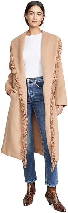 Line & Dot Women's Linda Fringe Coat