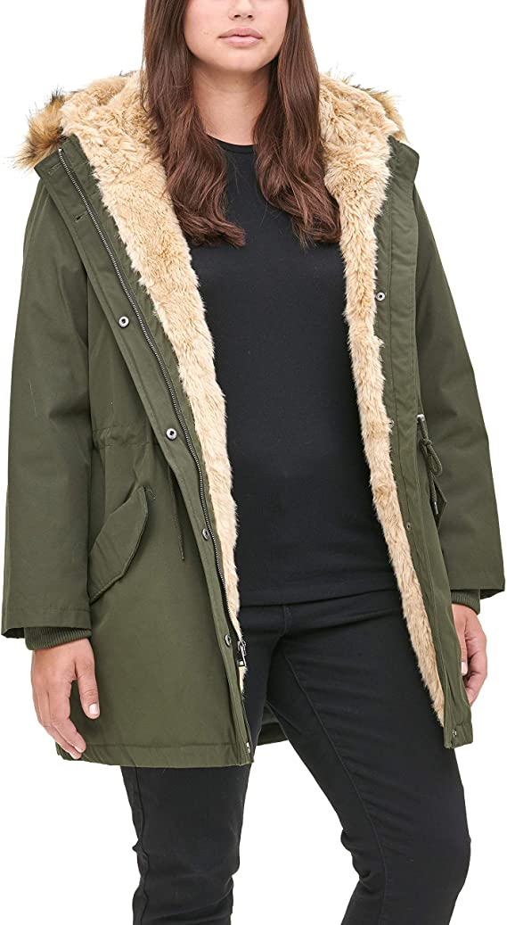 Lined Hooded Parka Jacket