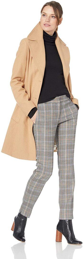 Spread Collar Wool Jacket