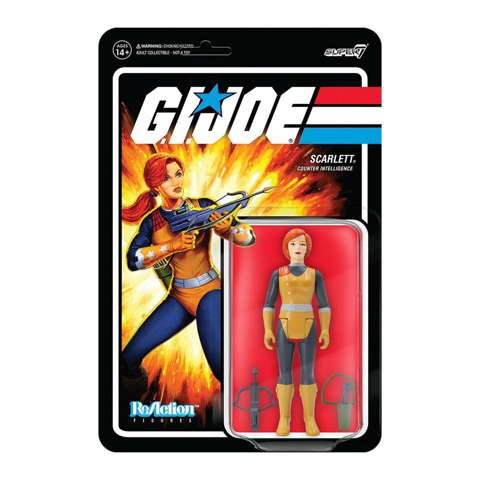 Super7 ReAction G.I. Joe Scarlett